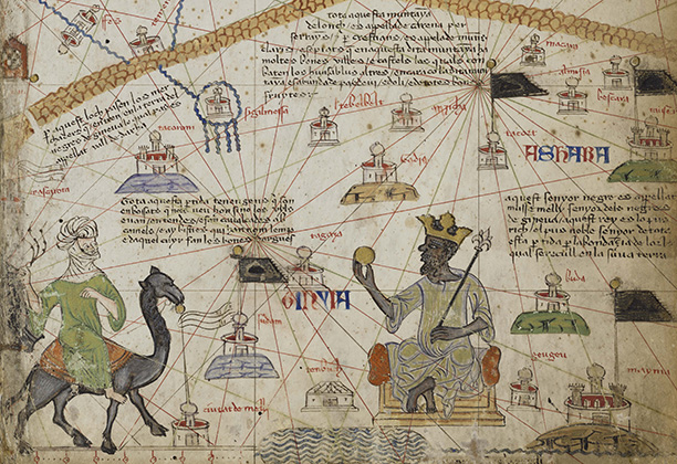 Atlas of Maritime Charts (The Catalan Atlas) [detail of Mansa Musa]
